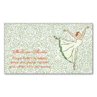 Graceful Ballerina Magnetic Business Card