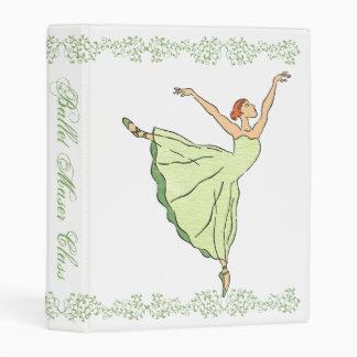 Graceful Ballerina Mini Binder