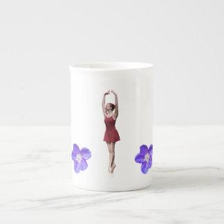 Graceful Ballerina On Pointe Bone China Mug
