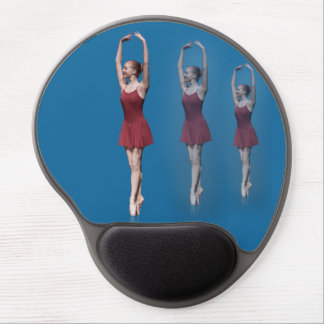 Graceful Ballerina On Pointe Customizable Gel Mouse Pad