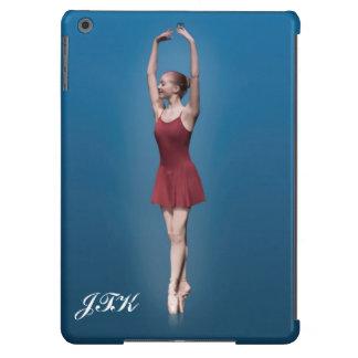 Graceful Ballerina On Pointe Customizable Monogram iPad Air Cover