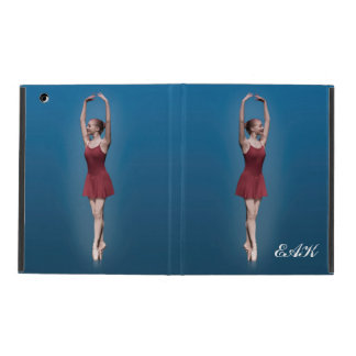 Graceful Ballerina On Pointe Customizable Monogram iPad Case