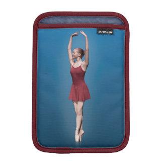 Graceful Ballerina On Pointe Customizable Monogram iPad Mini Sleeve