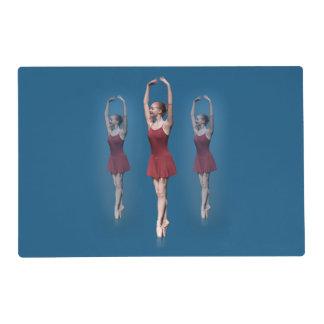 Graceful Ballerina On Pointe Customizable Placemat