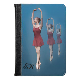 Graceful Ballerina On Pointe, Monogram