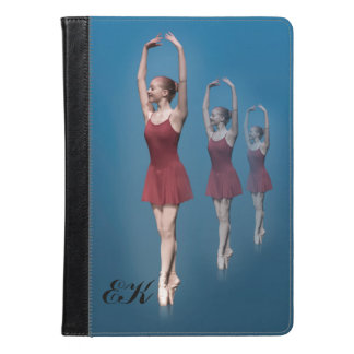 Graceful Ballerina On Pointe, Monogram iPad Air Case