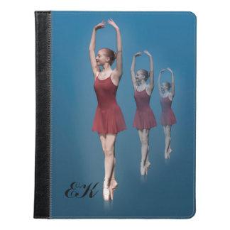 Graceful Ballerina On Pointe, Monogram iPad Case