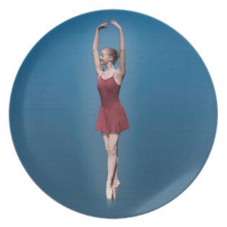 Graceful Ballerina On Pointe  Plate