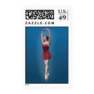 Graceful Ballerina On Pointe Postage Stamp