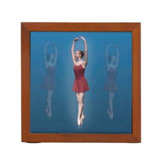 Graceful Ballerina On Pointe, Reversible Pencil Holder