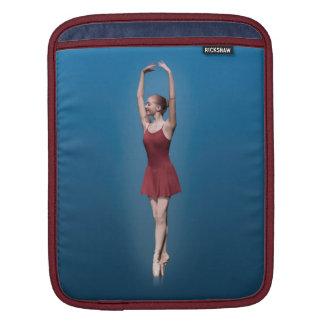 Graceful Ballerina On Pointe Sleeve For iPads