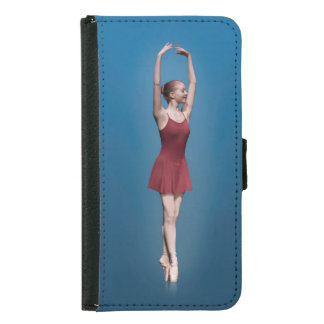 Graceful Ballerina On Pointe Wallet Phone Case For Samsung Galaxy S5