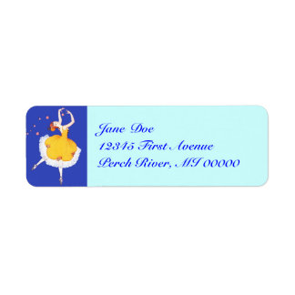 Graceful Ballerina Pirouette Dance Address Labels