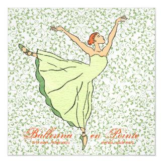 Graceful Ballerina Square Magnetic Card