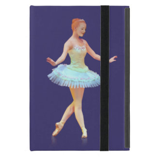 Graceful Ballerina with Red Hair Cover For iPad Mini