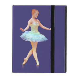 Graceful Ballerina with Red Hair iPad Covers
