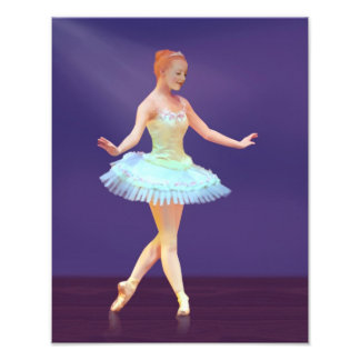 Graceful Ballerina with Red Hair Photo