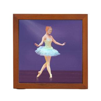 Graceful Ballerina with Red Hair, Reversible Desk Organizer