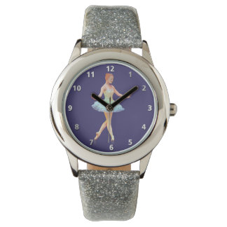 Graceful Ballerina with Red Hair Wristwatch