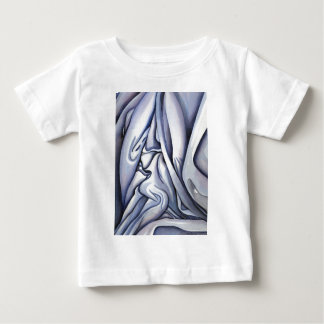 Graceful Blue Cloth Abstract Baby T-Shirt