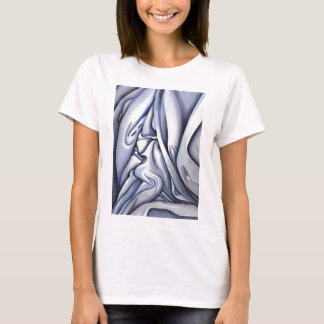 Graceful Blue Cloth Abstract T-Shirt