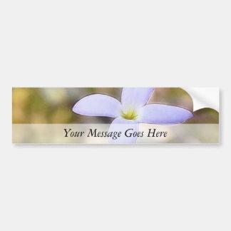 Graceful Bluet Flower Bumper Sticker