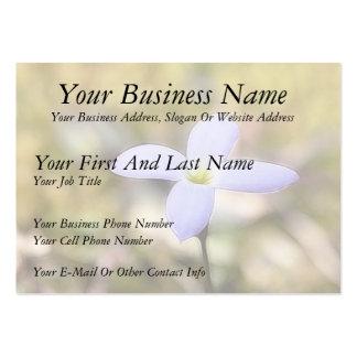 Graceful Bluet Flower Large Business Card