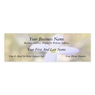 Graceful Bluet Flower Mini Business Card