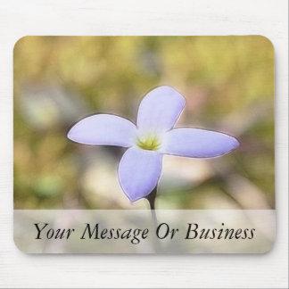 Graceful Bluet Flower Mouse Pad