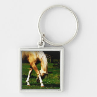 Graceful Bowing Horse Keychain