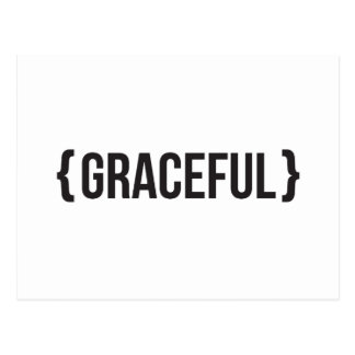 Graceful - Bracketed - Black and White Postcard
