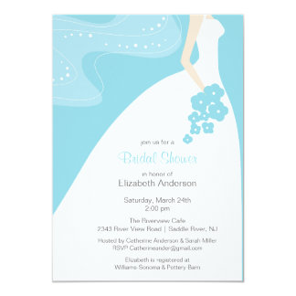 Graceful Bride Bridal Shower Invitation