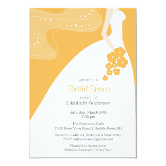 Graceful Bride Bridal Shower Invitation Beeswax