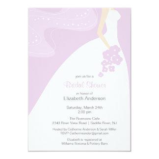 Graceful Bride Bridal Shower Invitation laveder