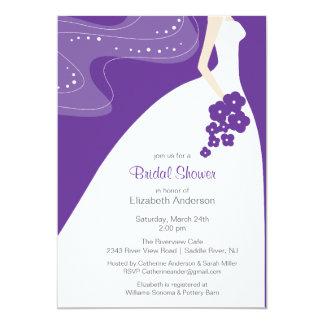 Graceful Bride Bridal Shower Invitation Purple