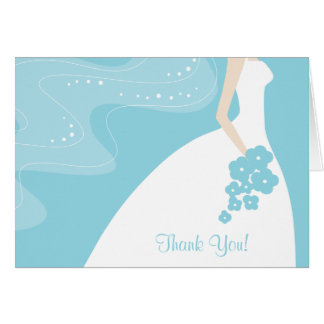 Graceful Bride Thank You Note Card