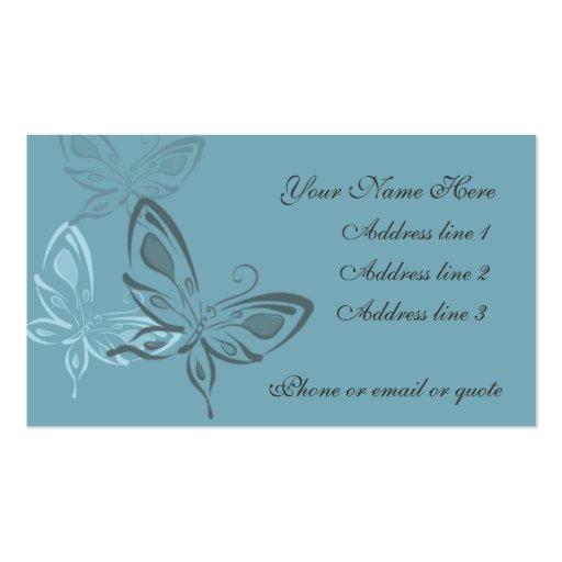 Graceful Butterflies on Blue Business Cards