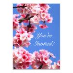 "Graceful Cherry Blossom Birthday Party Invitation 5"" X 7"" Invitation Card"