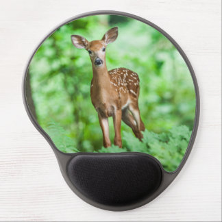 Graceful Doe in green forest Gel Mouse Pad