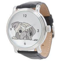 Graceful dog wrist watch