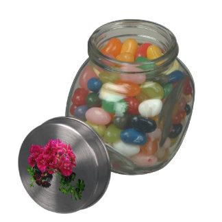 Graceful Geraniums Glass Jar