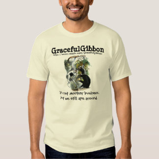 Graceful Gibbon Illustration T Shirt