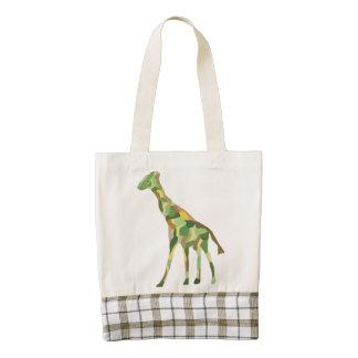 Graceful Giraffe Zazzle HEART Tote Bag