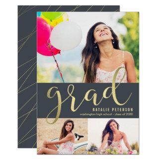 Graceful Glow EDITABLE COLOR Graduation Photo Card