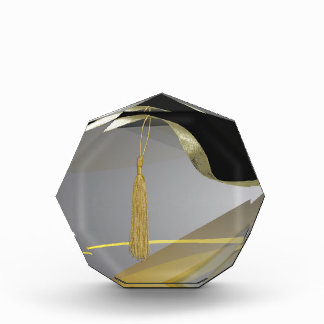 Graceful Gold Abstract Design, Tassel on Ribbon Award