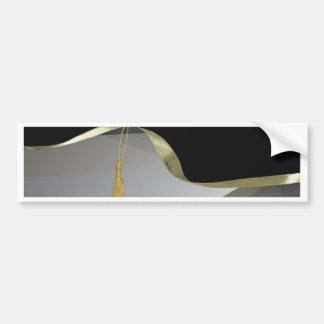 Graceful Gold Abstract, Tassel on Ribbon, 2019 Bumper Sticker