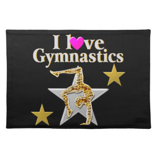 GRACEFUL GYMNAST GIRL CLOTH PLACEMAT