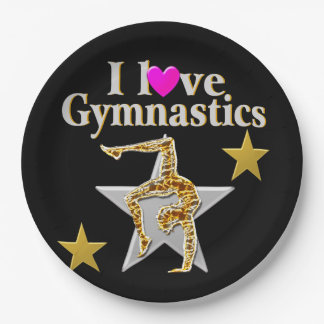 GRACEFUL GYMNAST GIRL PAPER PLATE