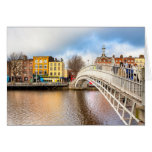 Graceful Ha'Penny Bridge - Dublin, Ireland Cards