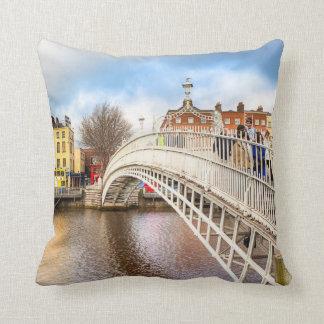 Graceful Ha'Penny Bridge - Dublin, Ireland Pillow